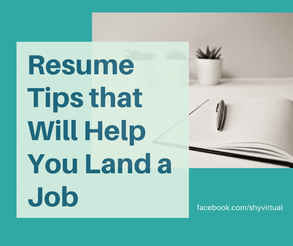 Resume Tips that Will Help You Land a Job